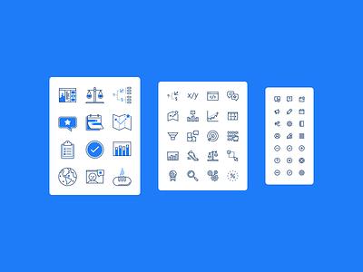 Rocketblocks Icons ux ui branding iconography icon vector design illustration figma