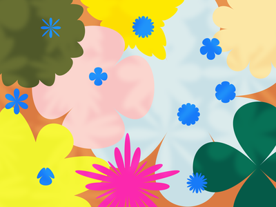 Flower Friends flowers pattern vector design illustration figma