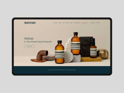 Mantain Visual Identity & Website brand identity design aesop web design website visual identity premium minimal mens grooming logotype logo design logo ireland identity graphic design design branding design branding and identity branding agency branding brand identity