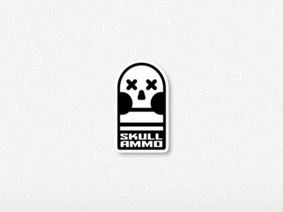 """Skull + Bullet logo concept """"Skull Ammo"""""""