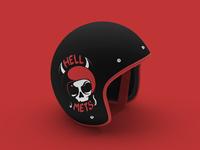 HellMets Logo Concept Mock up
