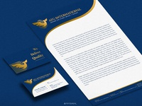 ATG International Business card and Letter head design