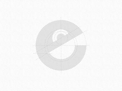 "e + Happy face logo concept ""happe' grid"