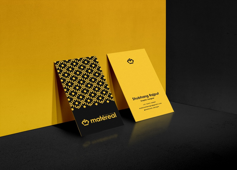 Matéreal Designs Business cards minimalist design minimal black yellow professional card professional business card businesscards busines card business brand brandidentity dribbbler logodesign branding design logo