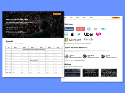 Houston TechFest Concept Redesign interaction uxdesign uiux ui website landing page design figma landingpage design