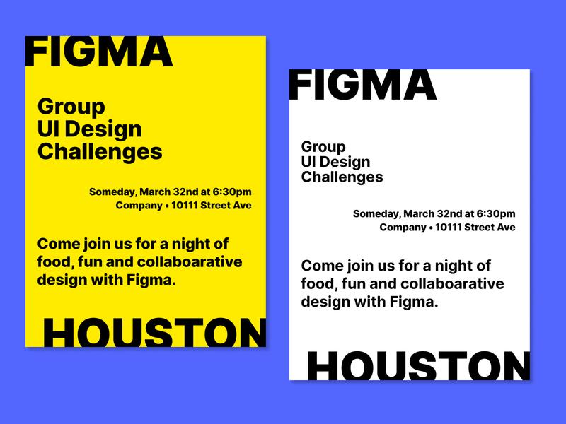Print Design Concept with Figma flyer flyer design event flyer designs poster design poster event print design print branding figmadesign figma design