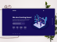 Asteci - Coming soon psd template (v2)