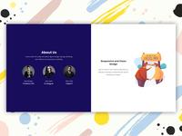 About us section design concept