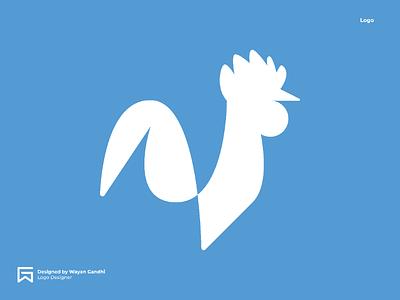 Rooster Logo Concept logo designer logo clever logo simple logo logo design rooster logo rooster