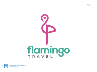 Flamingo Travel Concept by Wayan Gandhi flamingo travel logo travel agency green light pink travel logo flamingo logo flamingo travel flamingo simple logo design travel