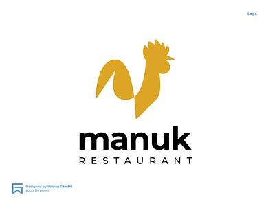 Manuk Logo Concept logo designer logo mark logogram simple clever logo logo simple logo logo design wgndhi wayan gandhi