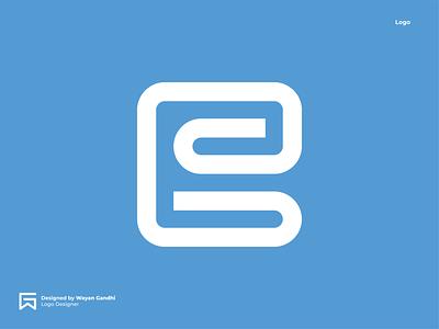 E Monogram Concept wayan gandhi logo designer logo mark simple logo logo design clever logo logoinspirations gandhiven blue