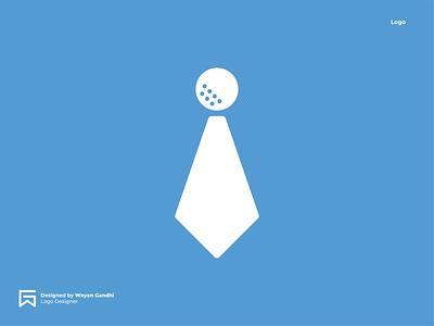 Golf Business Logo Concept clever logo logo design business businesslogo golfbusiness golflogo simple logo logo mark monogram wayan gandhi gandhiven golf