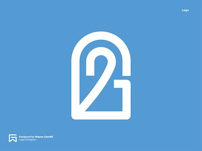 G2 Logo Concept logotype logogram logo designer logo mark graphic design g logo g2 logo monogram clever logo simple logo logo design wayan gandhi