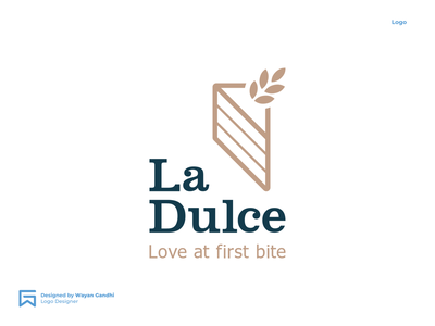 La Dulce Logo Concept graphic design logotype logo designer clever logo monogram premium logo pastry logo cake logo simple logo logo design wayan gandhi logogram