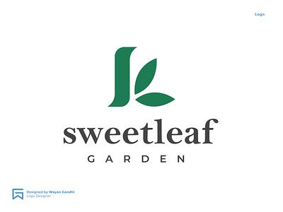 Sweatleaf Logo Concept by Wayan Gandhi clean logo simple logo green logo leaf logo sweat leaf logo sweatleaf sweat logo monogram clever logo wayan gandhi logo design