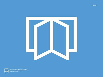 Open Book Logo Concept monogram wayan gandhi logo design simple logo clever logo book logo open book logo open book open logo logo