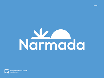 Narmada Logo Concept 2 water logo narmada logo mineral water logo mineral water monogram logo clever logo simple logo logo design wayan gandhi