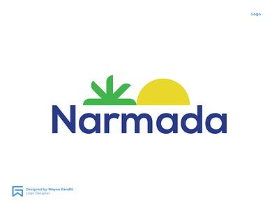 Narmada Logo Concept 2 by Wayan Gandhi logo narmada narmada logo narmada sun logo water logo mineral water logo mineral water monogram logo clever logo simple logo logo design wayan gandhi