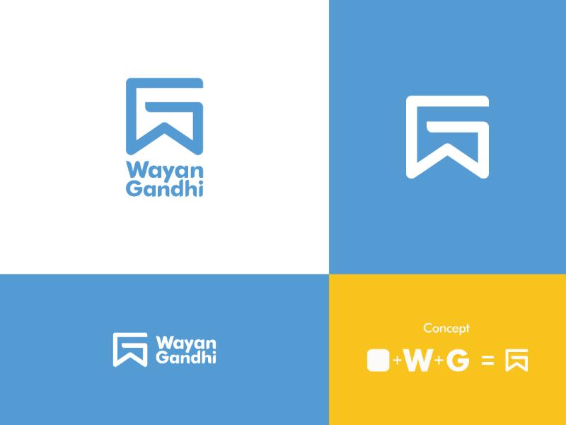 WG Wayan Gandhi | Personal Logo personal branding logo concept logo awesome logo inspiration brand identity logo personal logo