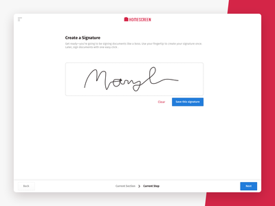 Homescreen Web App multi-step clean webapp design ui design ui