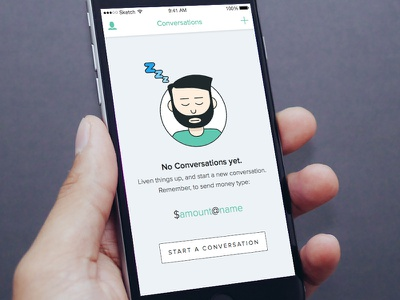 Zipline Empty State character illustration empty state app mobile ui ios