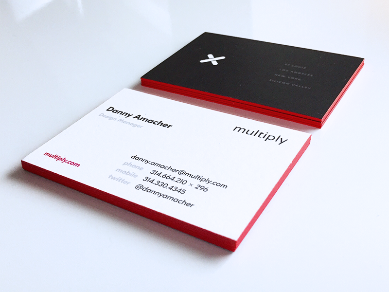 MULTIPLY Business Cards print cards thick brand branding business cards business card