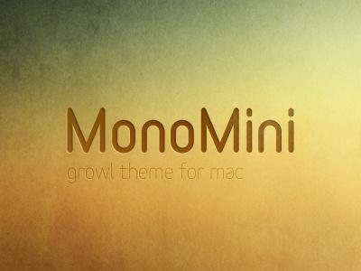 MonoMini, Growl Theme monomini growl css theme mono notification