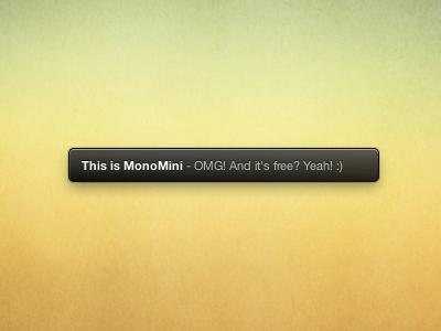 This is MonoMini monomini free mono growl theme css