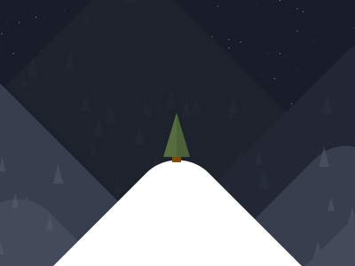 The only tree christmas xmas animation experiment css