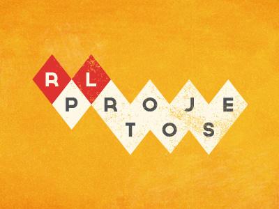 RL Projetos vintage id 50s fifties minimalism retro logo