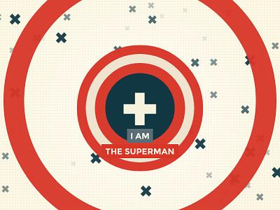 The Superman superman solarized css3 animation the good man
