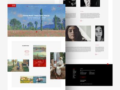 Zian Art Gallery creative ux ui sketchapp design webdesign