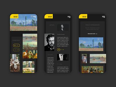 Zian Art Gallery - Dark PRO creative design sketchapp website ui design ux ui webdesign