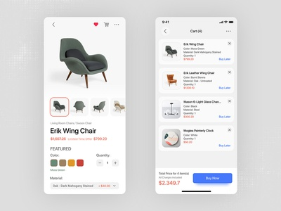 Daily Ui challenge | Furniture shopping app