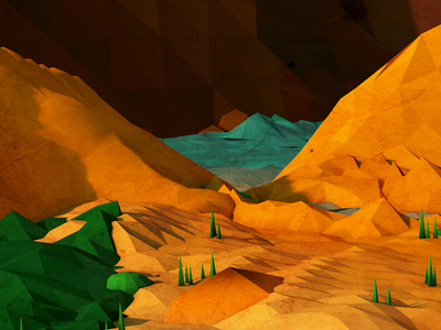 Low Poly Cave close-up