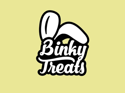 Rabbit Logo branding logo white floppy treats ears binky bunny rabbit