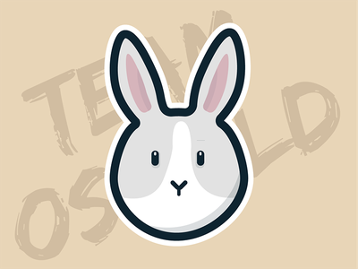 Oswald the Rabbit illustration character vector pet animal sticker flat bunny rabbit