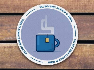 There's Always Time For Tea tea bag tea cup cup of tea mug tea playoffs sticker mule coaster
