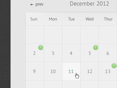 Event Calendar calendar events booking notifications days months years ui ux interface front-end slick modern subtle light
