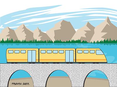 illustration of a train vector illustrator illustration