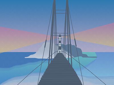 Illustration of the bridge. illustration photoshop art photoshop