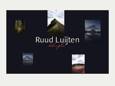 Photography portfolio | Ruud Luijten typography flat animation figma adobexd photography portfolio portfolio photographer minimalistic clean ui ux branding brand design photography website webdesign