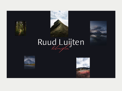 Photography portfolio | Ruud Luijten typography flat animation figma adobexd photography portfolio portfolio photographer minimalistic clean ui ux branding brand design photography website webdesign