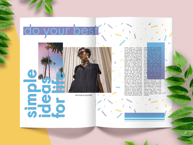 article design book arte editorial layout editorial newspaper memphis page design magazine ad magazine page art article fashion clean girly design