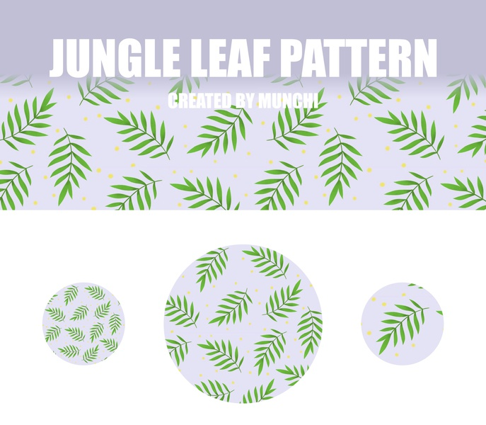 Jungle leaf pattern surface pattern design surface design surface leaf product illustration procreate app handdraw purple jungle pattern