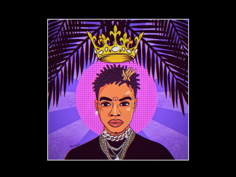 Portrait of Soulja Boy palm california drako design music rapper rap sodmg purple collage cover souljaboy illustration art