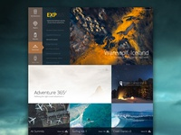 Explore camping surfing adventure photography interface design ux ui dashboard