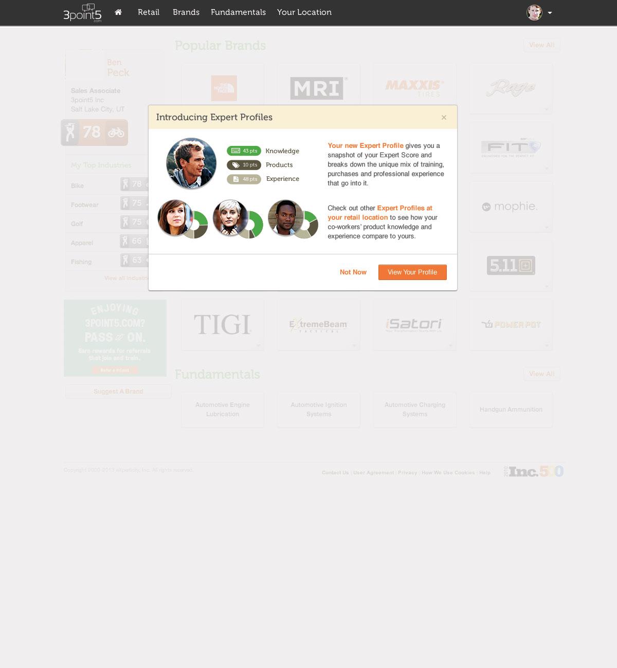 2 profile 3p5 privacy modal