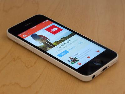 Experticity Mobile App - Brand Profile mobile design app brand profile